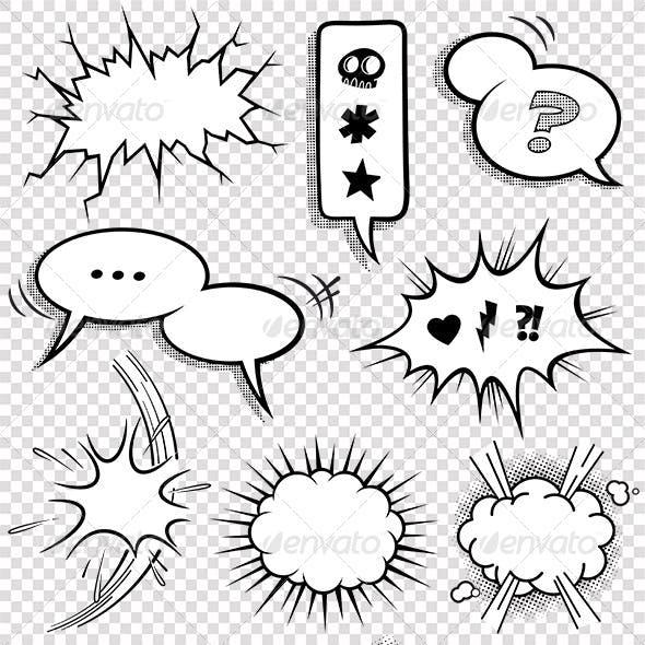 Comic Bubbles and Elements Set 2
