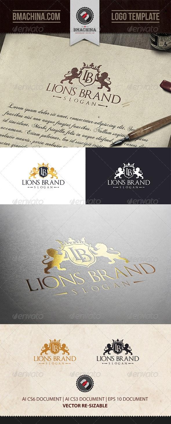 Lions Brand Logo Template - Crests Logo Templates