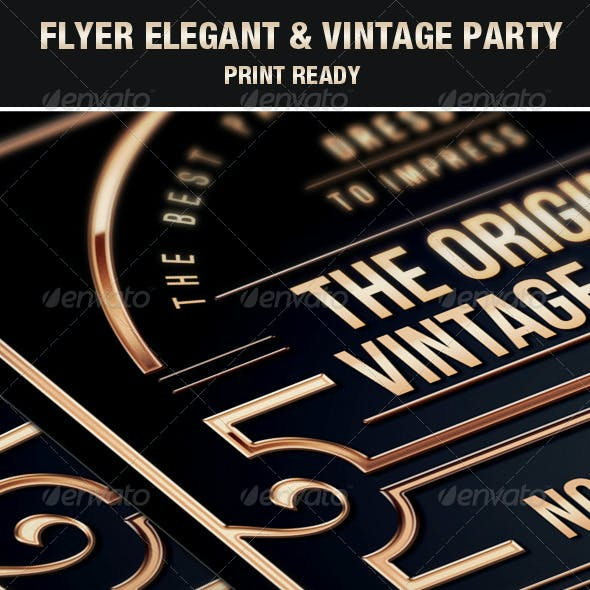 Flyer Vintage & Exclusive Party Elegant Luxury Vip