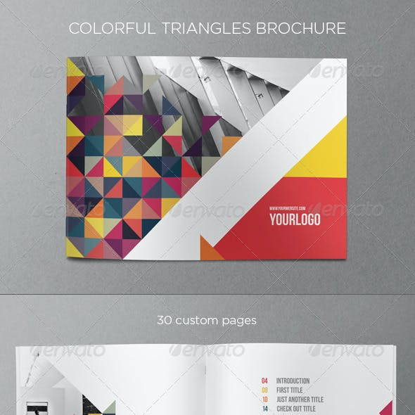 Colorful Triangles Brochure