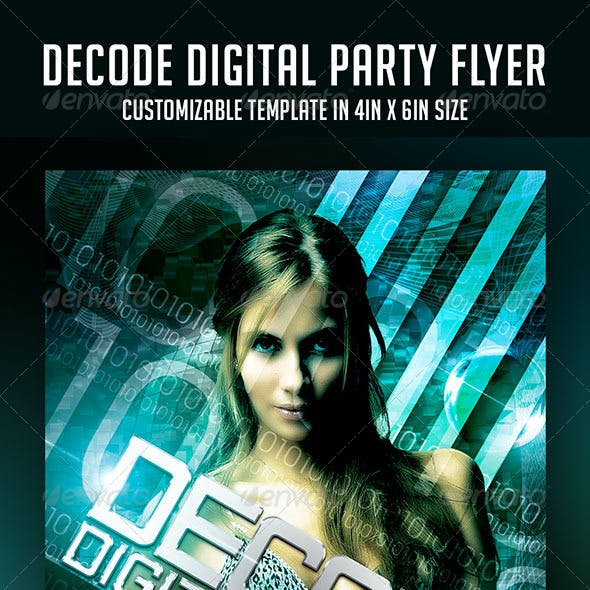 Decode Digital Party Flyer