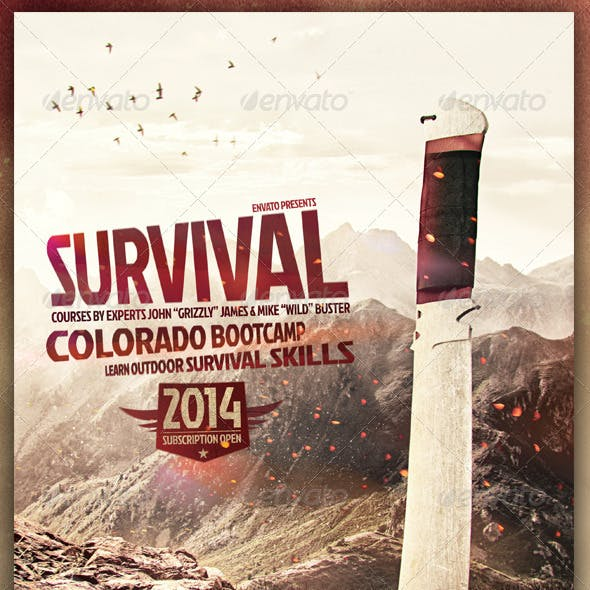 Survival Flyer / Outdoor, Hiking, Trekking