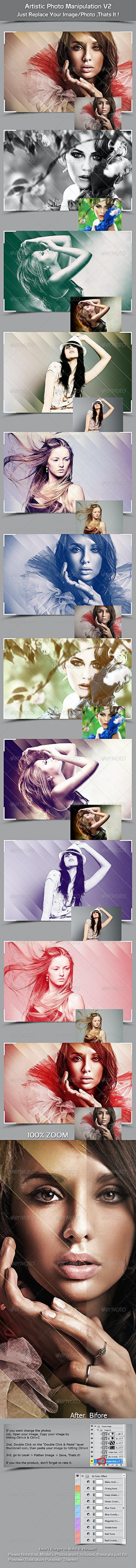 Artistic Photo Manipulation V2 - Photo Templates Graphics