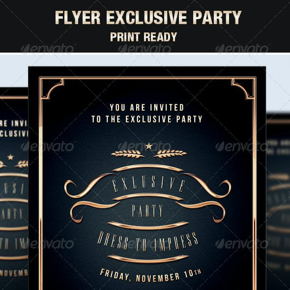 Flyer Exclusive & Elegant Party Vip Style