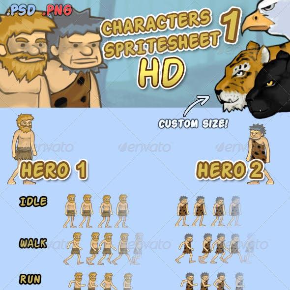 Character Spritesheet 1 HD