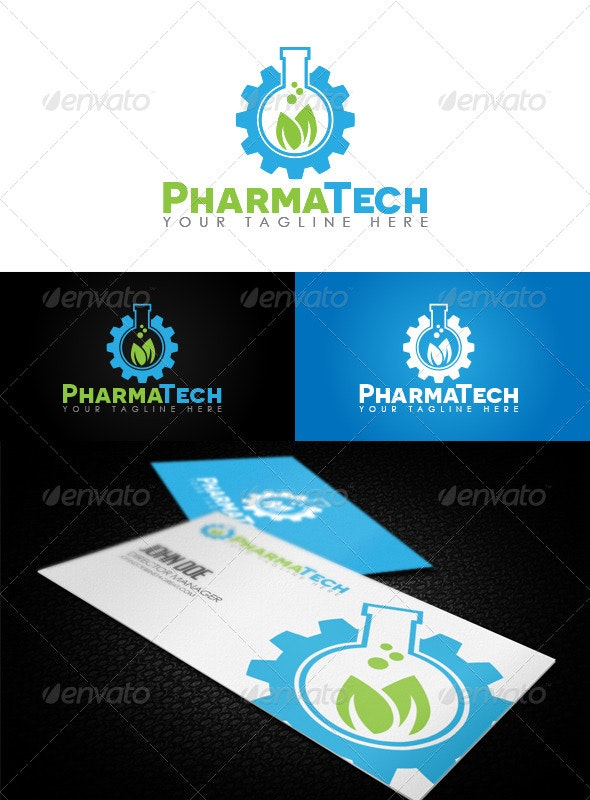 PharmaTech Logo - Nature Logo Templates