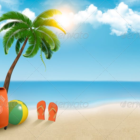 Vacation Background on Beach