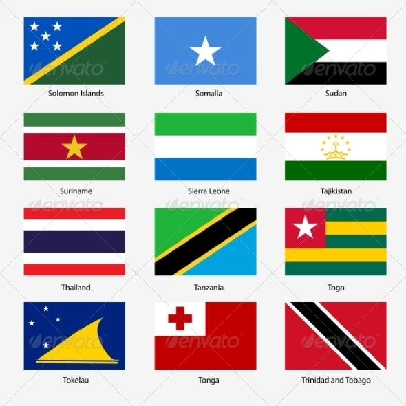 Flag Set of World Sovereign States