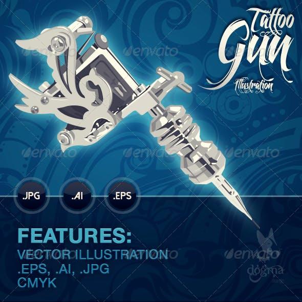 Tattoo Gun Illustration