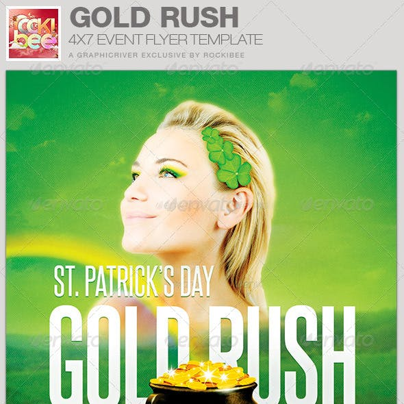 Saint Patrick's Day Gold Rush Event Flyer Template