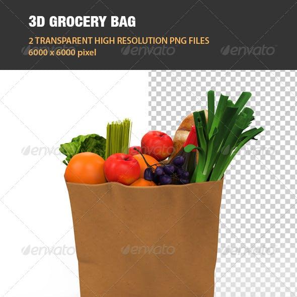 3D Grocery Bag