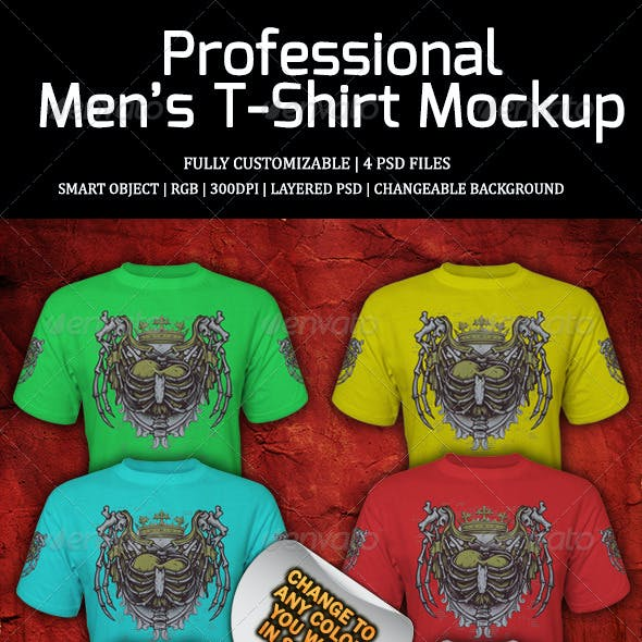 Professional Men's T-Shirt Mockup 1