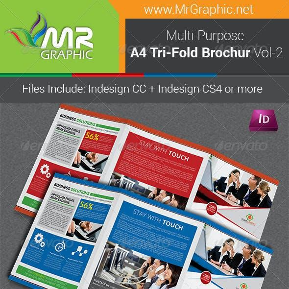 Multipurpose A4 Tri-Fold Brochure Template Vol-2