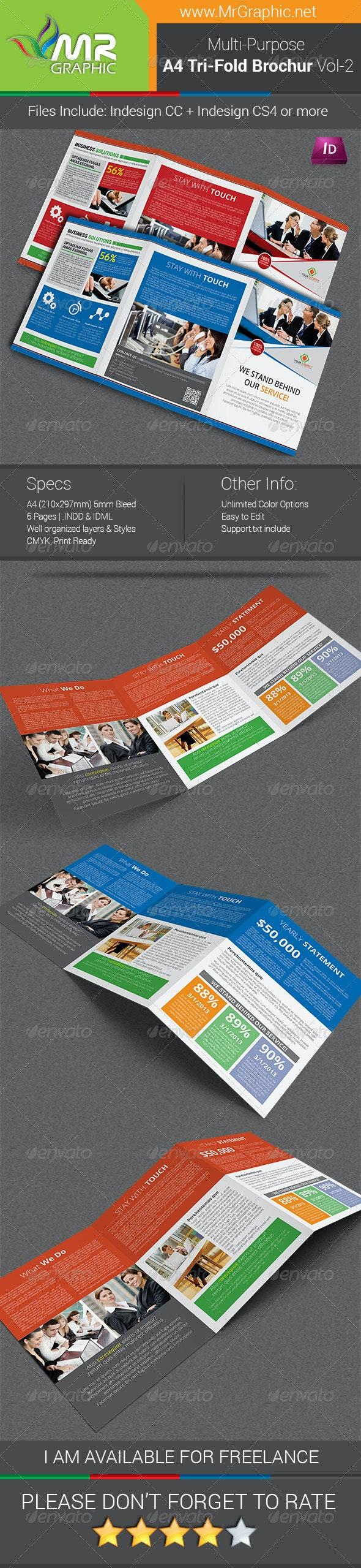 Multipurpose A4 Tri-Fold Brochure Template Vol-2 - Corporate Brochures