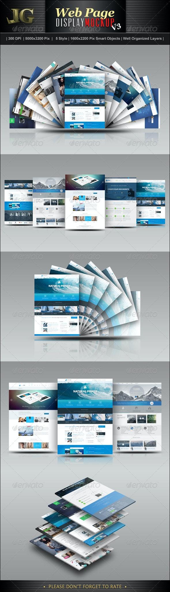 Website Display Mockup V3 - Website Displays