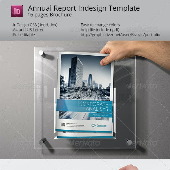 Sharp and Clean Annual Report Brochure