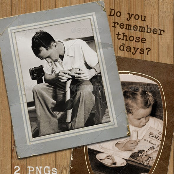 Retro Photograph Display Frames - old card