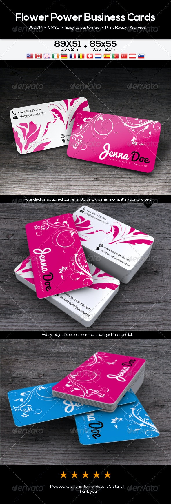 Flower Power Business Card - Creative Business Cards