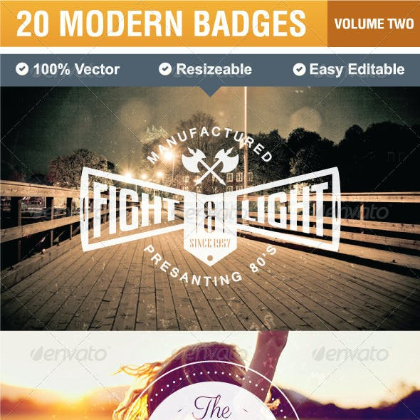 20 Modern Badges and Labels