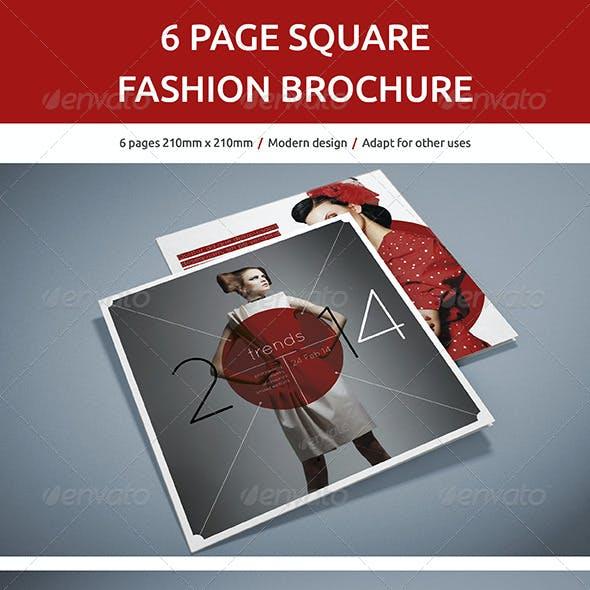 6 Page Square Fashion Brochure