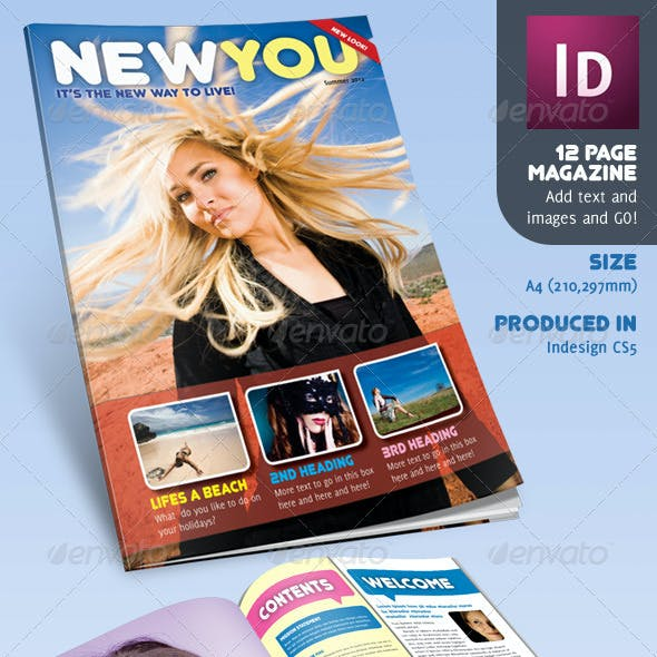 12 Page Magazine inDesign A4 Lifestyle