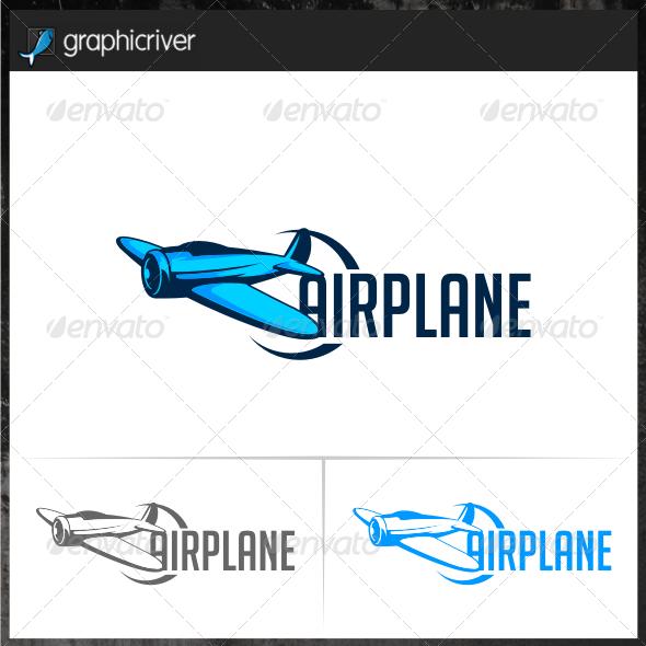Air Plane Logo Template
