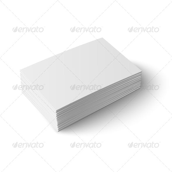 Stack of Blank Business Cards