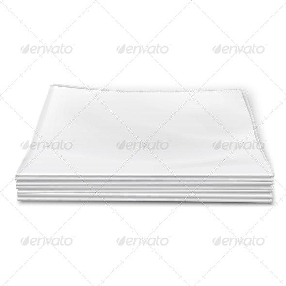 Blank Newspapers Pile - Retail Commercial / Shopping