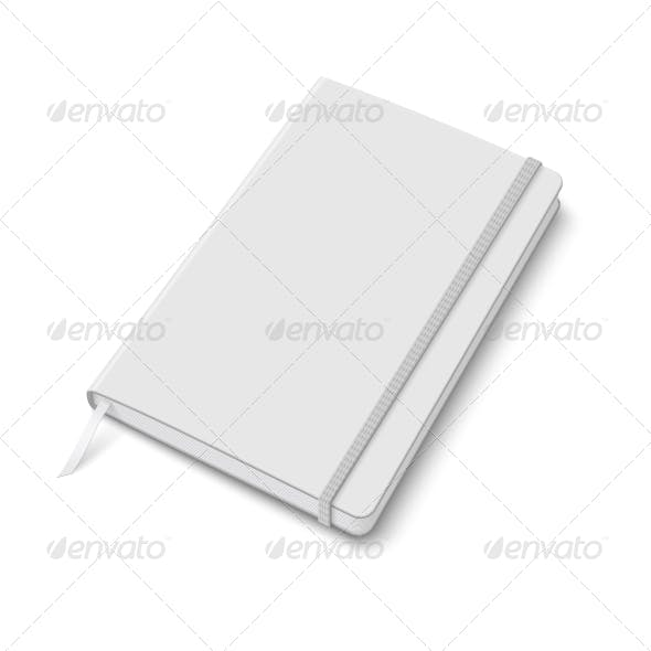 Blank Copybook Template with Elastic Band