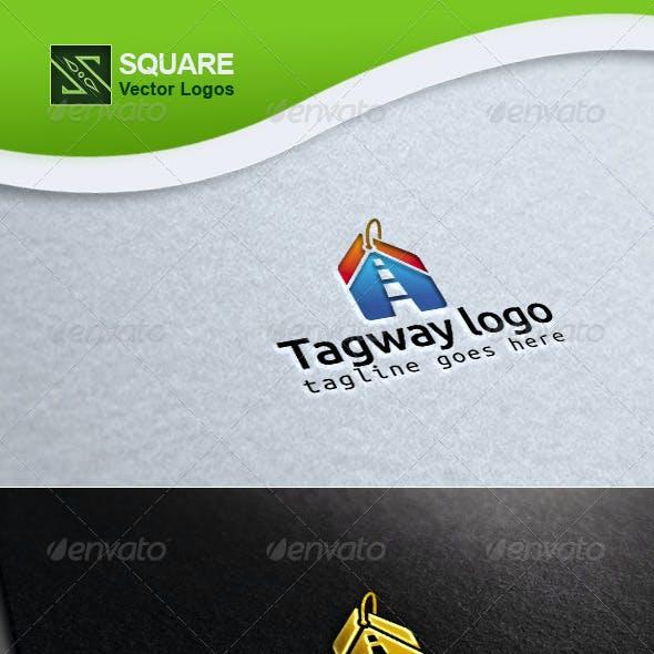 Tag, Way Vector Logo Template
