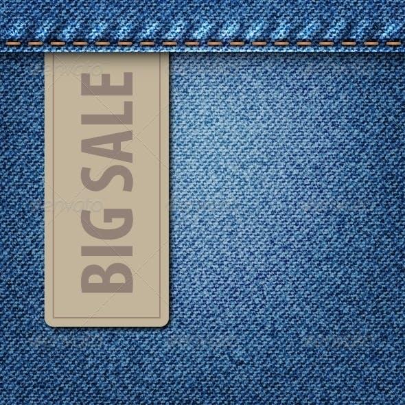 Big Sale Jeans Background