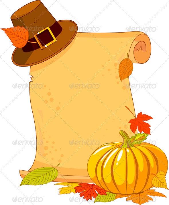 Thanksgiving Day scroll  - Seasons/Holidays Conceptual