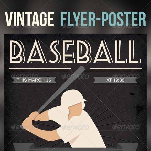 Baseball Vintage Poster/Flyer