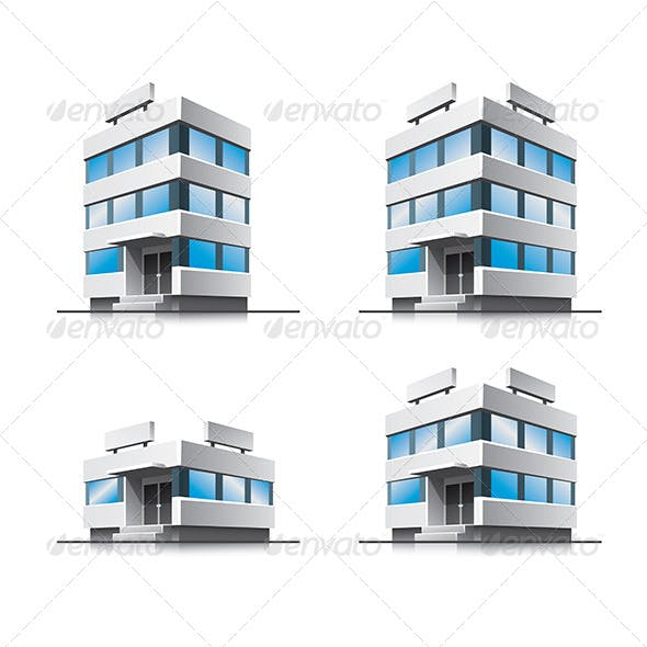 Cartoon Office Vector Buildings