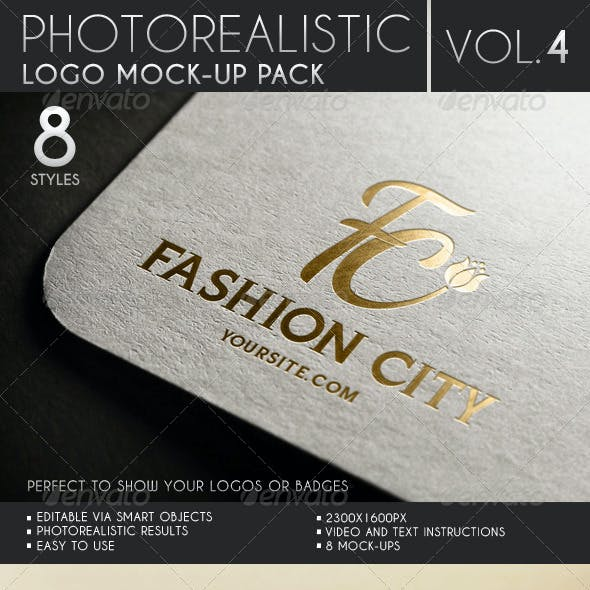 Photorealistic Logo Mock-Up Pack Vol.4