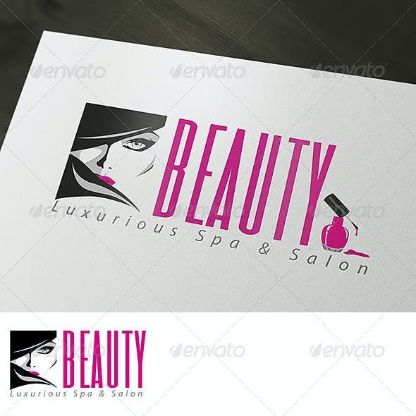Luxurious Beauty Spa & Salon Logo Template