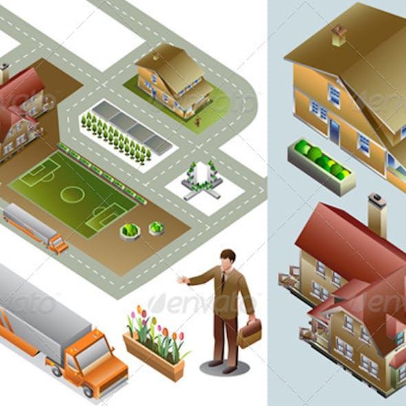 Isometric House Set