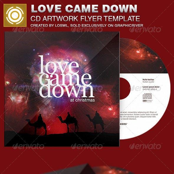 Love Came Down CD Artwork Template
