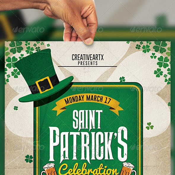 Vintage St. Patrick's Celebration Flyer