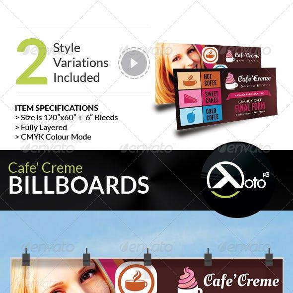 Cafe Creme Billboard Banner