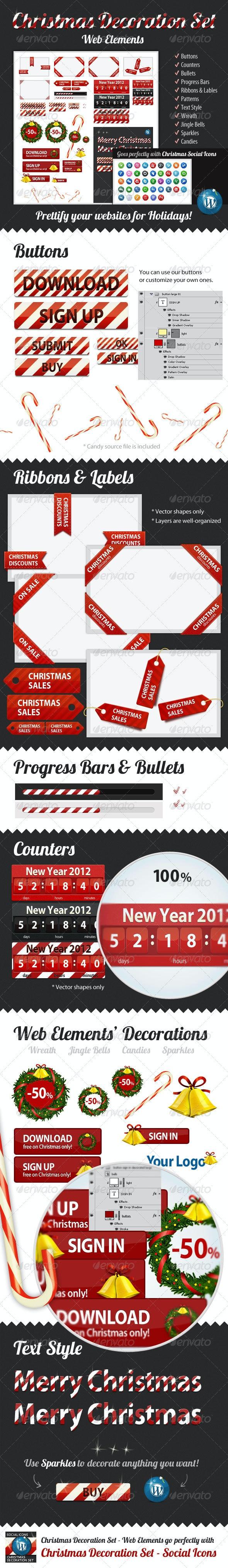 Christmas Decoration Set — Web Elements - Miscellaneous Web Elements