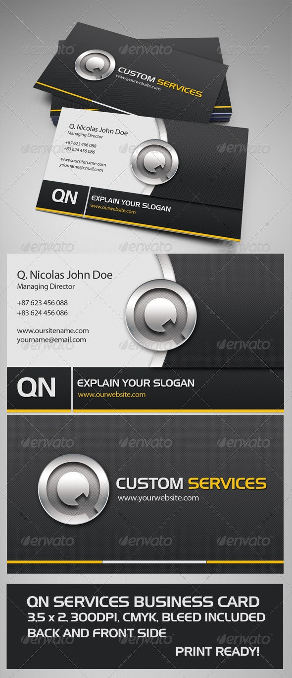 QN Services Business Card - Creative Business Cards