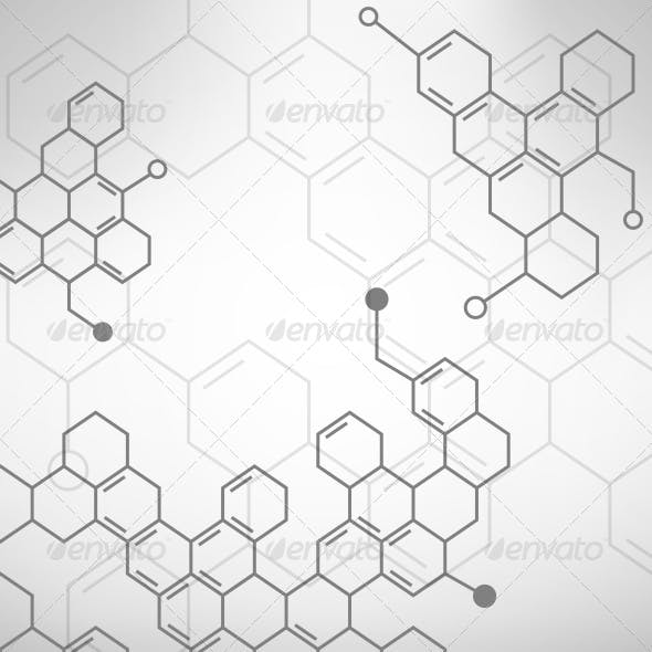 Abstract Organical Chemical Formulas Background