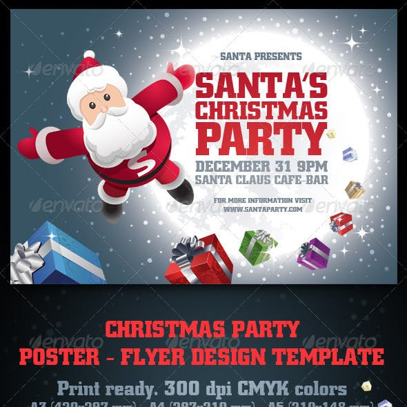 Santa's Christmas Party Poster & Flyer Set