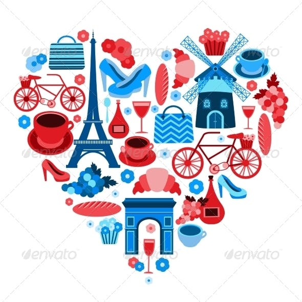 Love Paris Heart Symbol