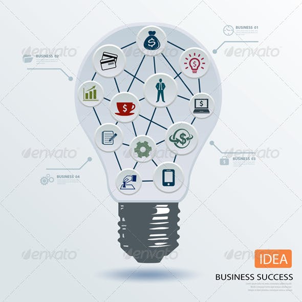 Light Bulb Business Application Icon