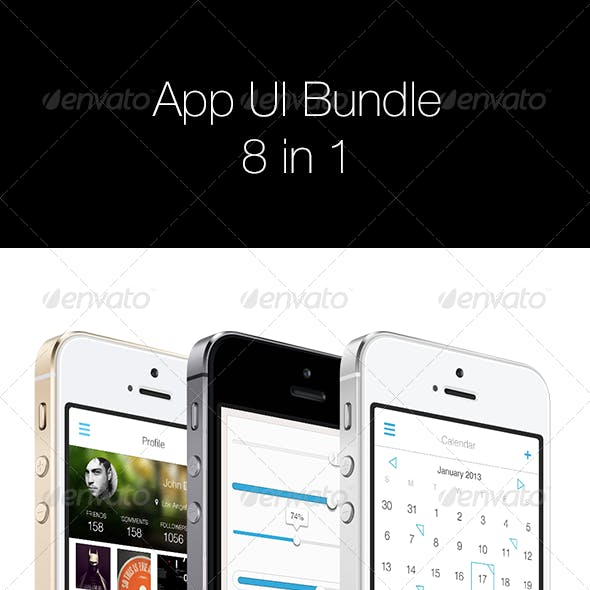 App UI Bundle 8 in 1