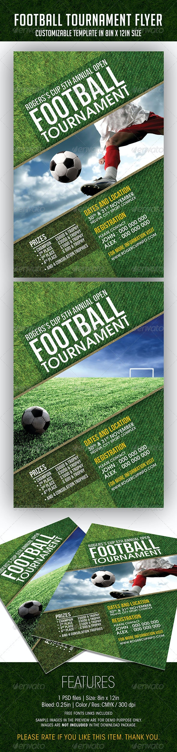 Football Tournament Event Flyer - Sports Events