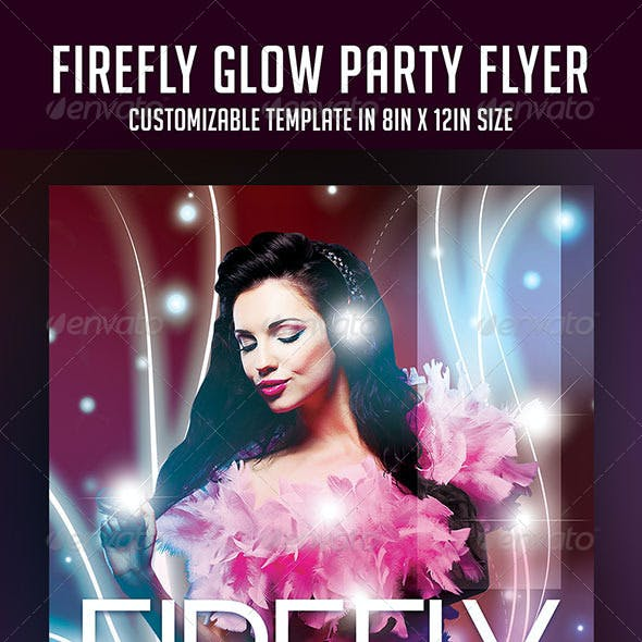 Firefly Glow Party Flyer