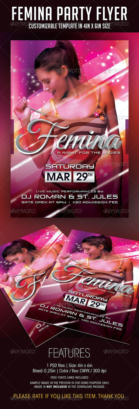 Femina Ladies Night Party Flyer - Clubs & Parties Events